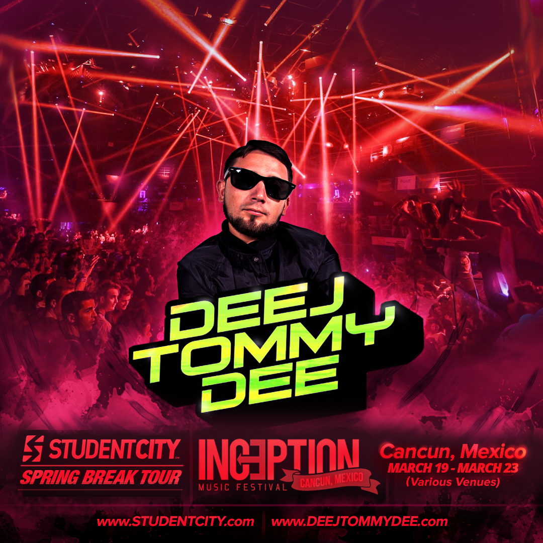 Deej Tommy Dee Inception Music Festival Cancun Mexico